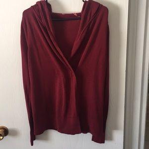Lululemon Hooded Knit Wrap Sweater